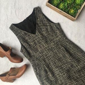 J Crew sleeveless shift dress in peppered tweed